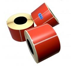 Цветная полуглянцевая этикетка 58х40мм (красный)
