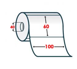 Полуглянцевая этикетка 100х60мм
