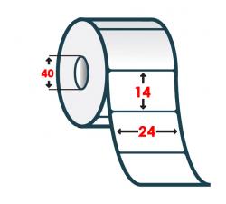 Полипропиленовая этикетка 24х14мм