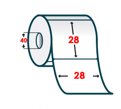 Термоэтикетка T.ECO 28х28мм