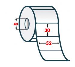 Полуглянцевая этикетка 52х30мм