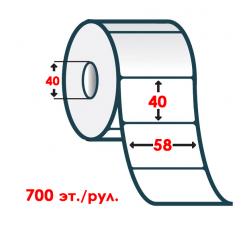 Термоэтикетка T.ECO 58х40мм (700шт. в рул.)