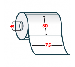 Термоэтикетка T.ECO 75х50мм